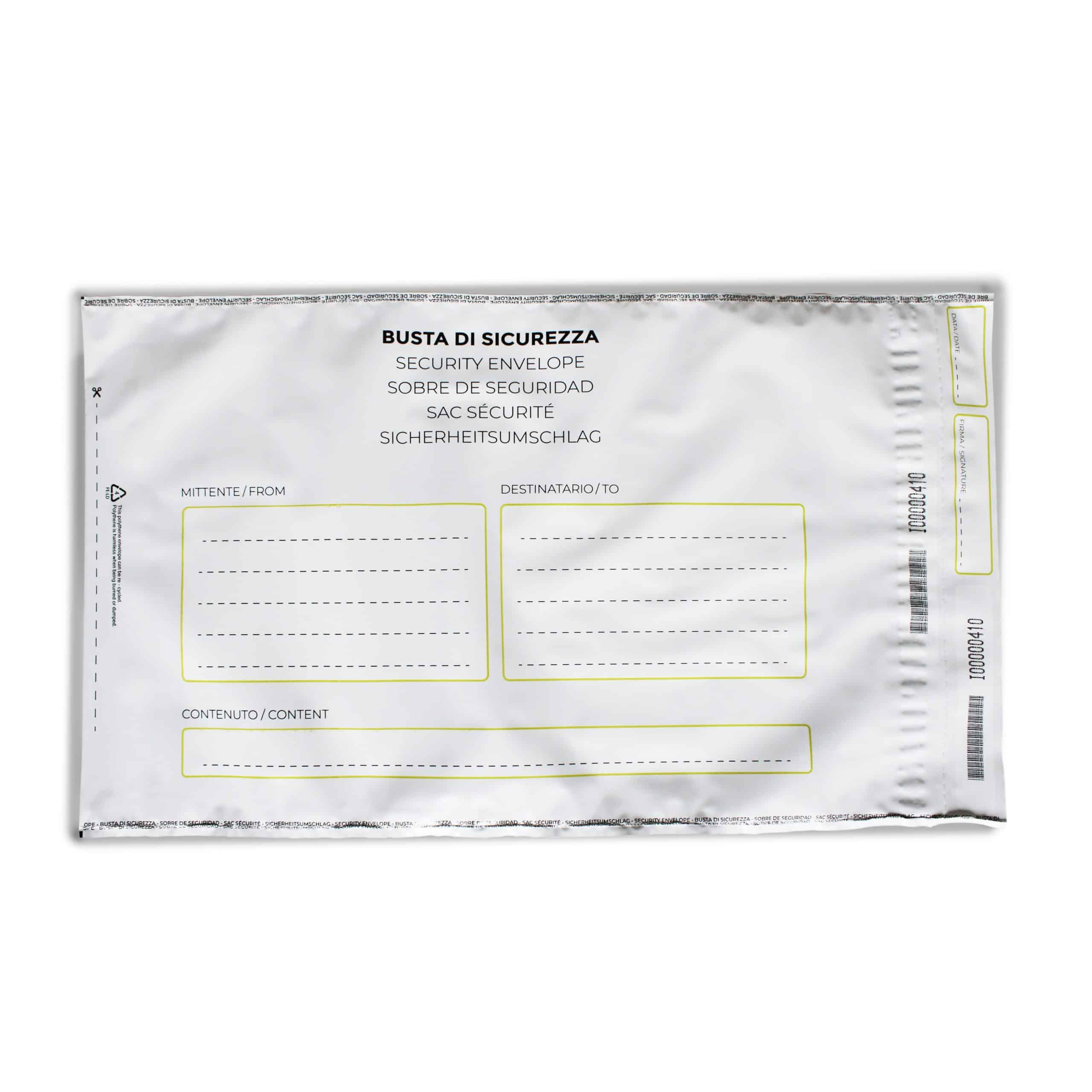 Busta di sicurezza - shipping bags envelopes Oniloc