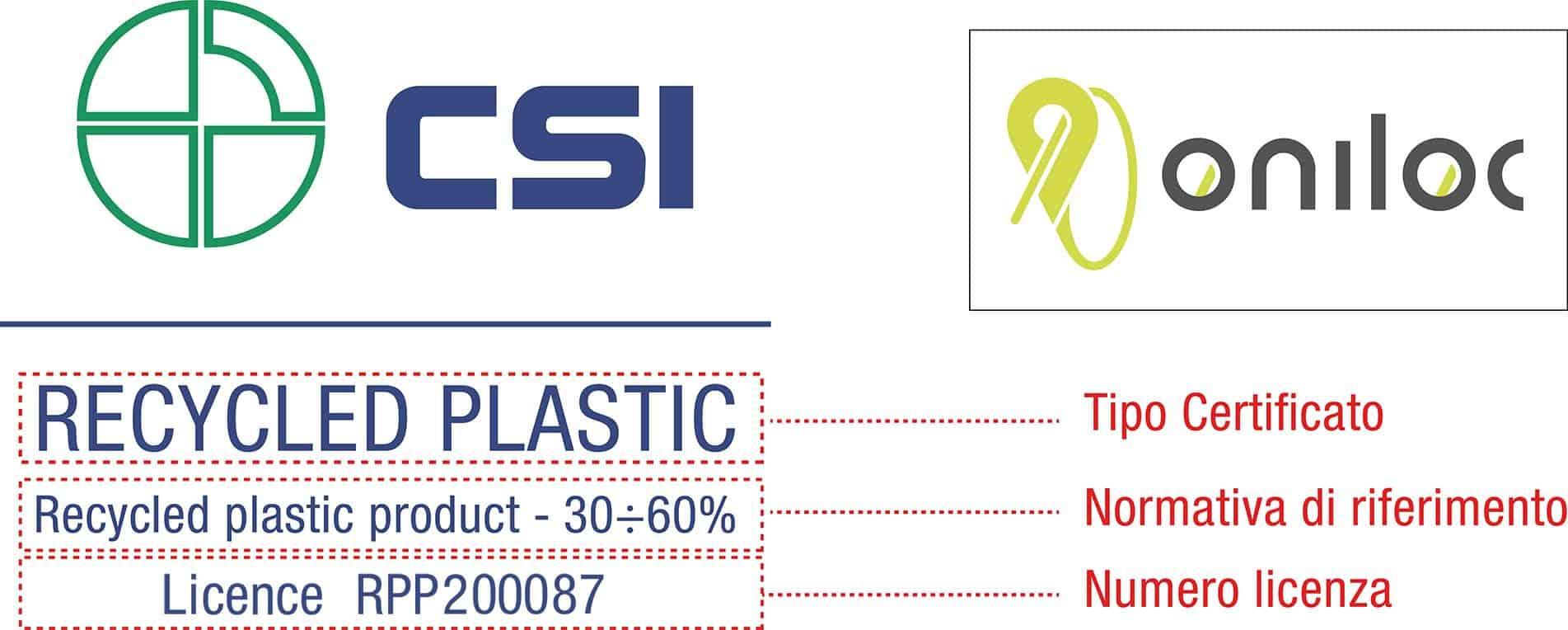 logo plastica riciclata produzione sigilli di sicurezza - Oniloc