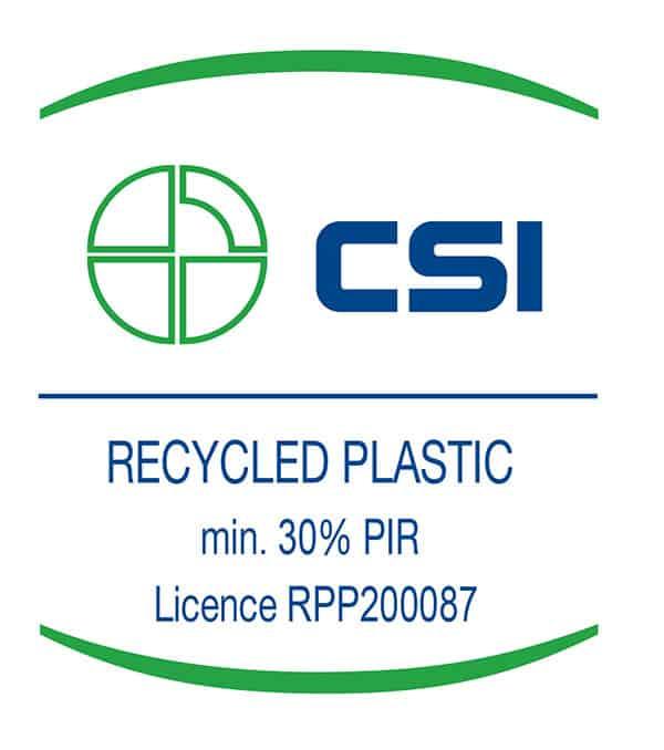 Certificato plastica riciclata CSI licenza Oniloc