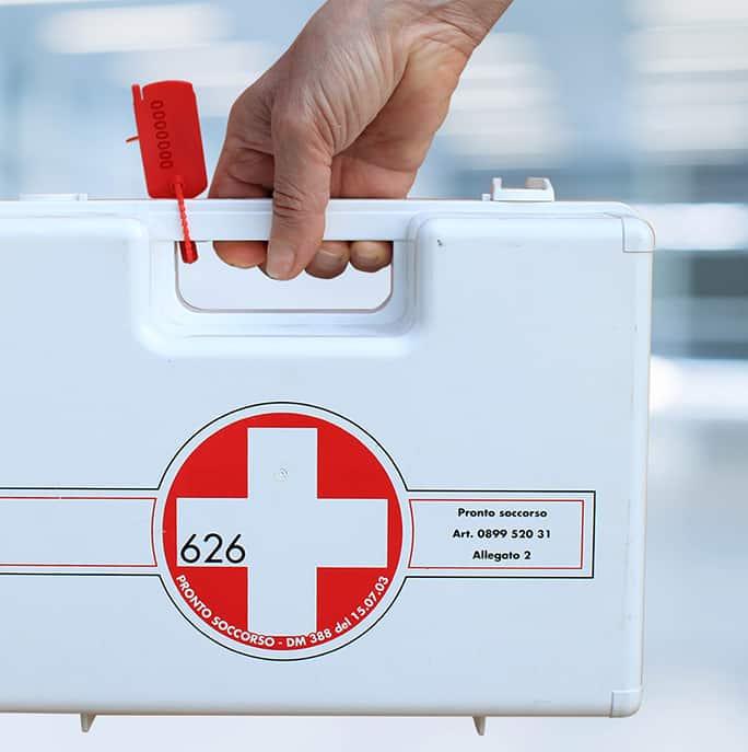 Sigillo Demetra applicato a valigetta medica - Oniloc