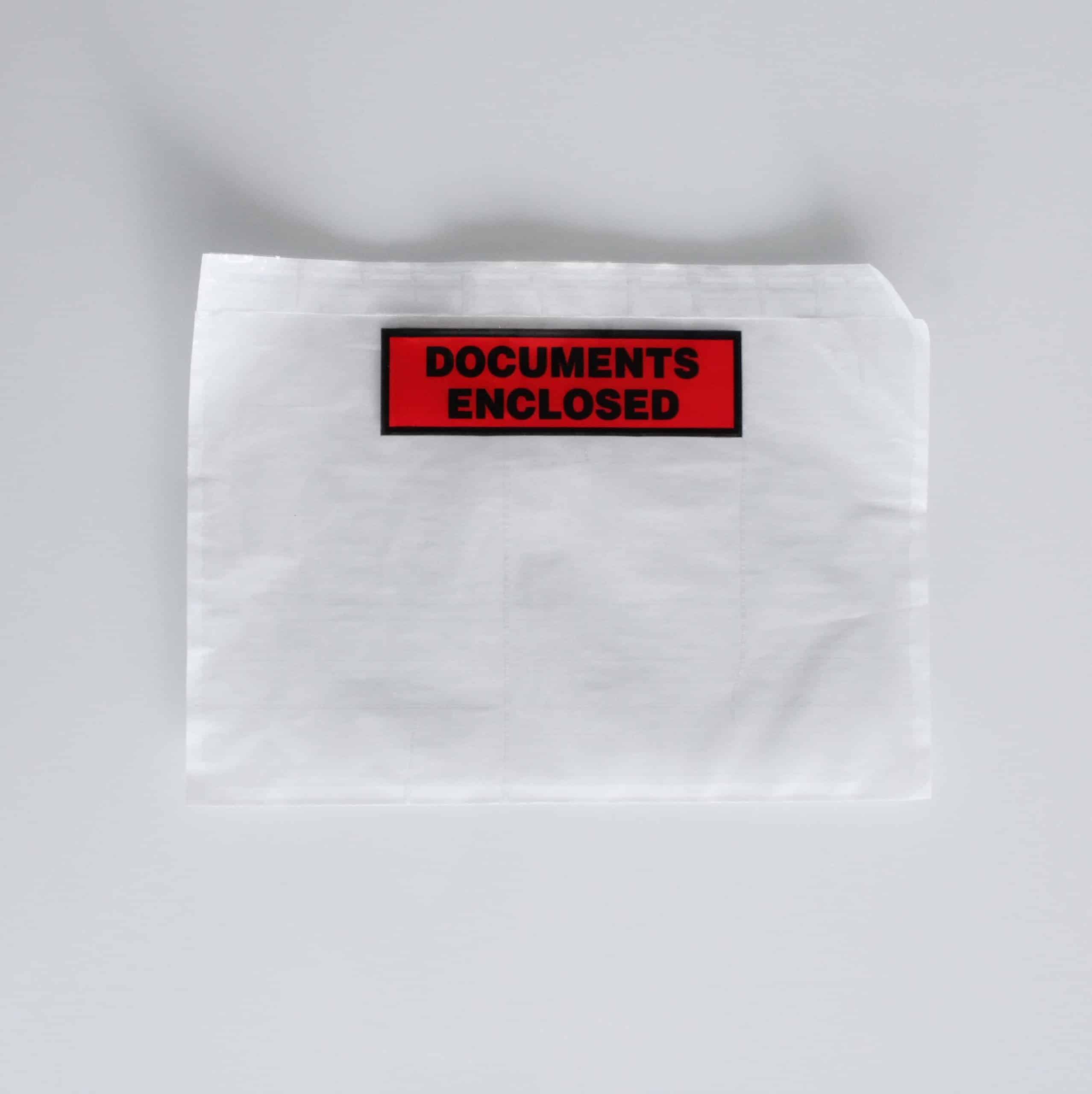 Busta adesiva trasparente porta documenti Oniloc