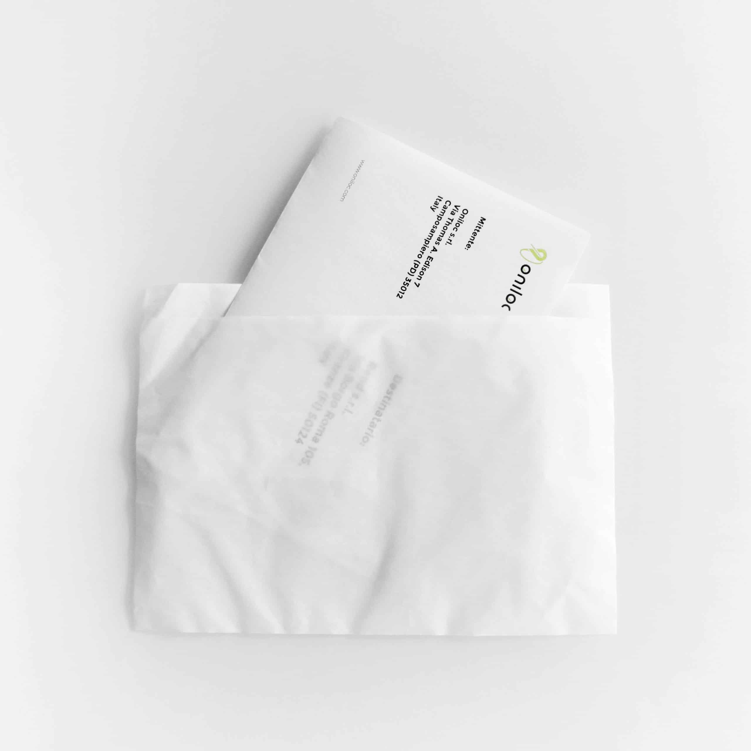 Busta adesiva trasparente porta documenti trasporto